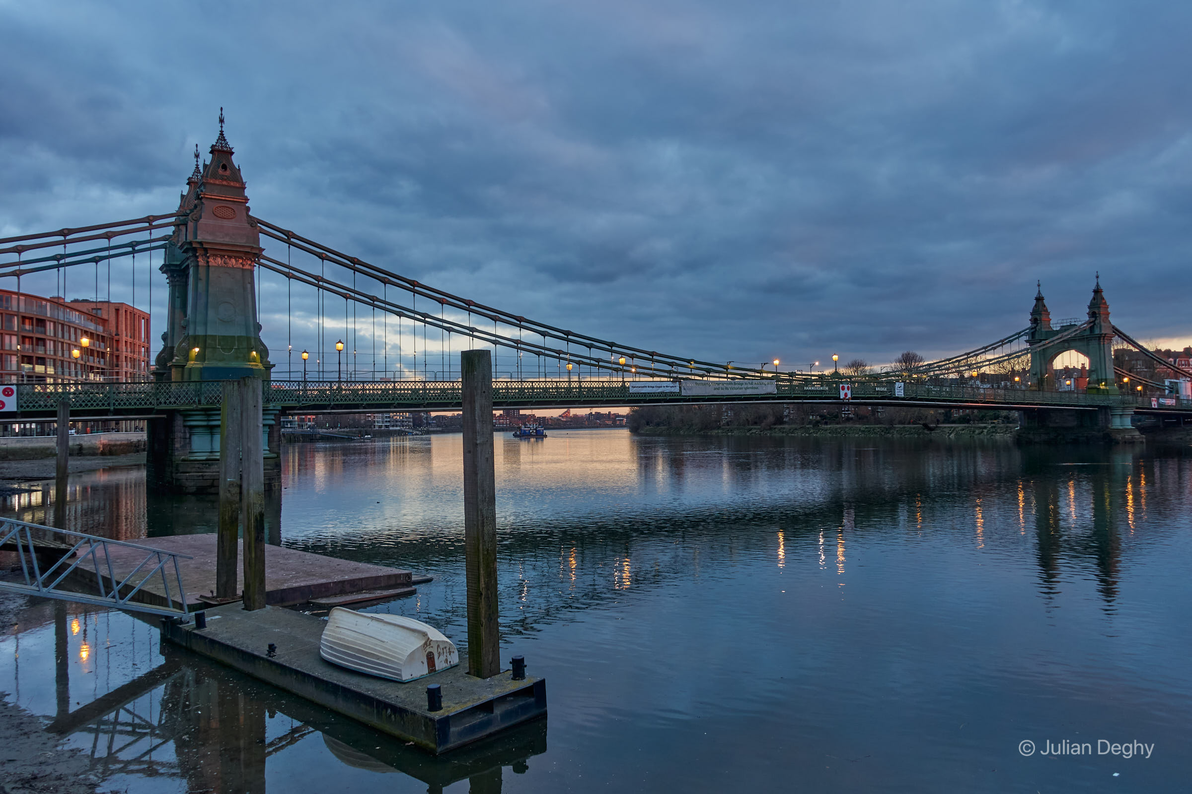 Hammersmith Bridge Spring Evening
