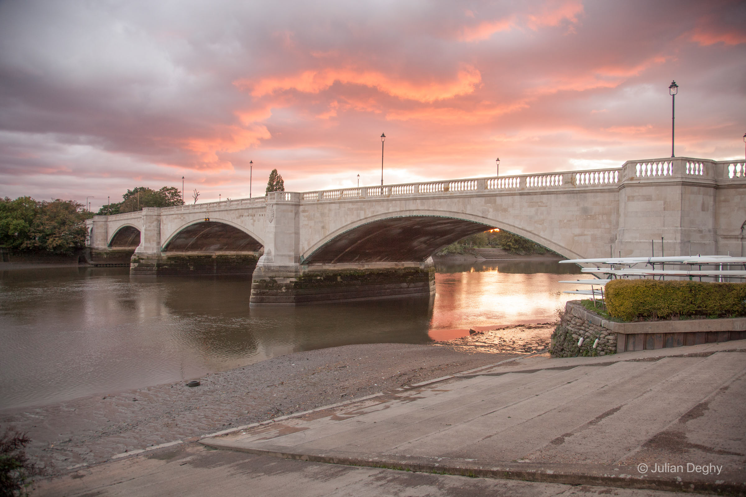 Chiswick Bridge at Sunset